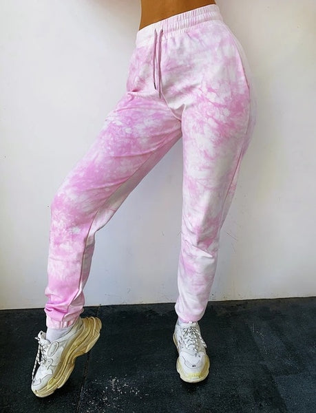 Soft high waist  drawstring joggers