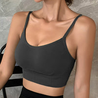 Sexy Seamless Crop-Top w Removable Padded Camisole