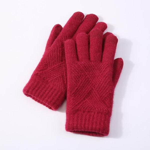 Autumn/winter Thick Knit` touchscreen Gloves