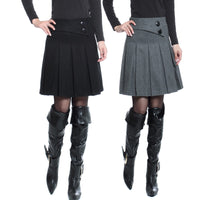 Pleated Wool Skirts