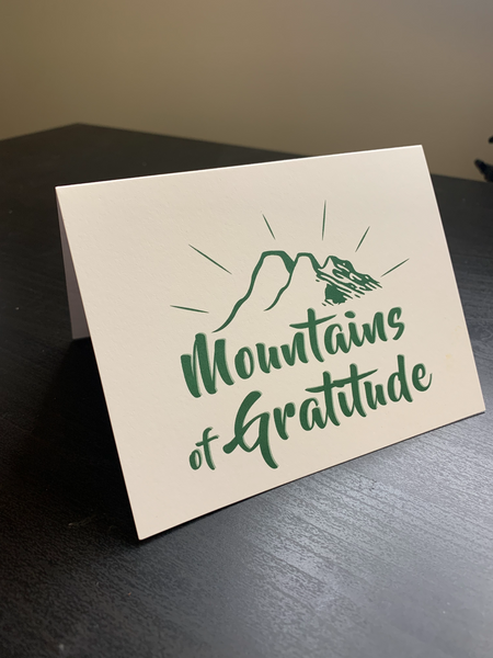 30 pack- Mountains of Gratitude: Thank You cards