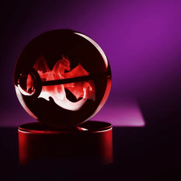 Charizard Glowing Crystal Pokeball