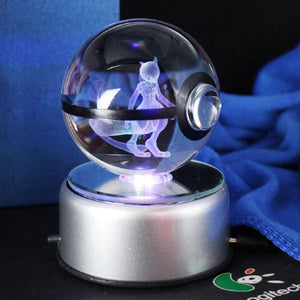 Mewtwo Glowing Crystal Pokeball