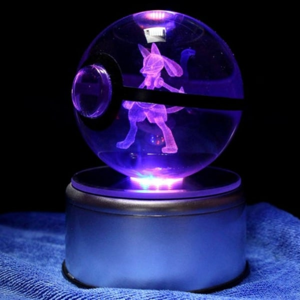 Lucario Glowing Crystal Pokeball