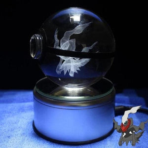 Darkrai Glowing Crystal Pokeball