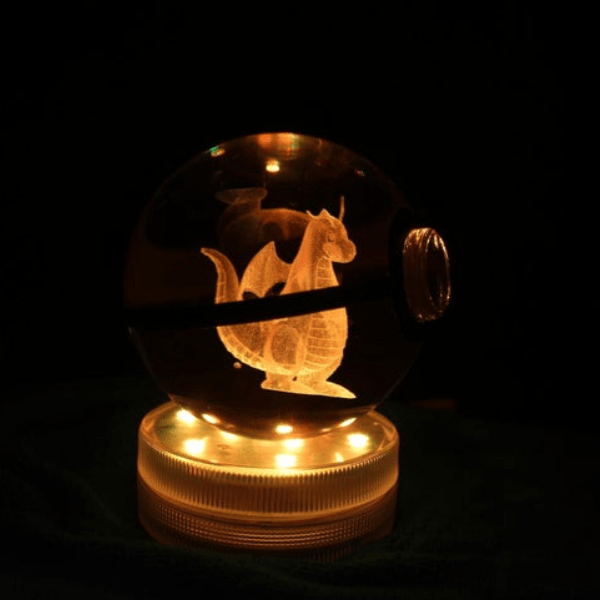 Dragonite Glowing Crystal Pokeball