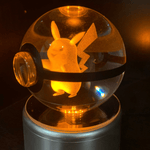Pikachu Glowing Crystal Pokeball