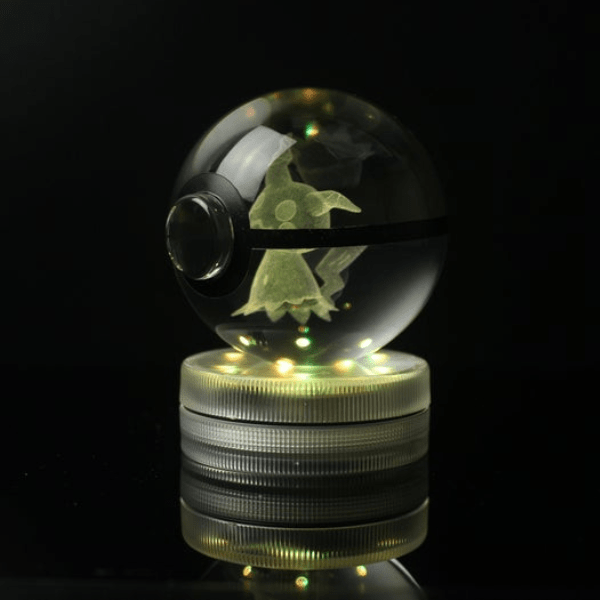 Mimikyu Glowing Crystal Pokeball