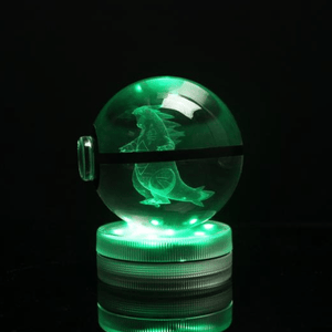 Tyranitar Glowing Crystal Pokeball