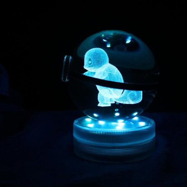 Squirtle Glowing Crystal Pokeball