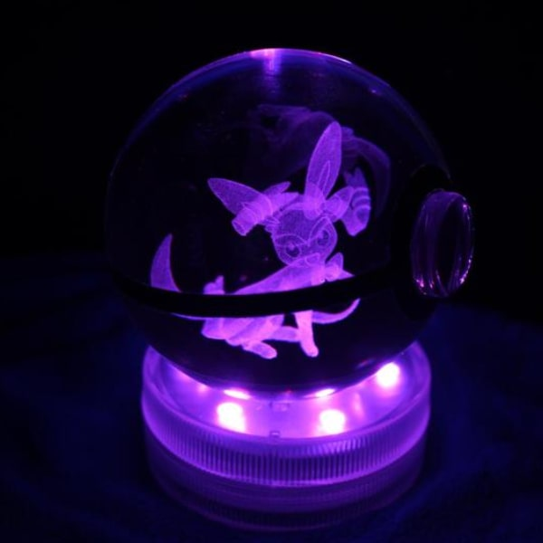 Sylveon Glowing Crystal Pokeball