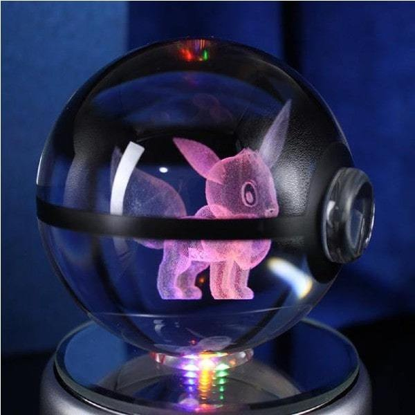 Eevee Glowing Crystal Pokeball