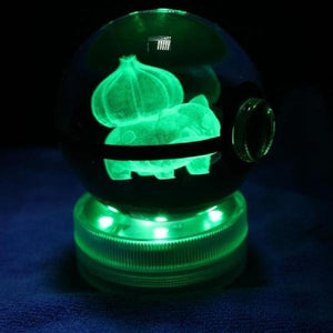 Bulbasaur Glowing Crystal Pokeball