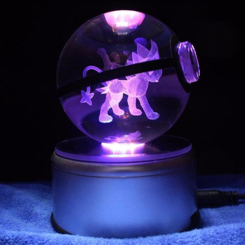 Luxray Glowing Crystal Pokeball