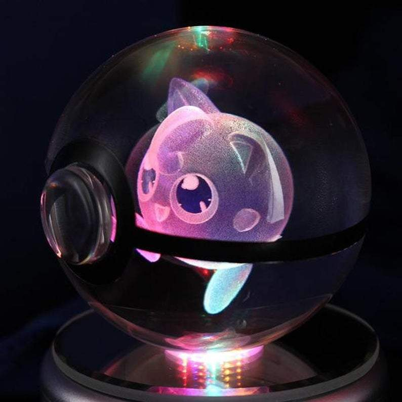 Jigglypuff Glowing Crystal Pokeball