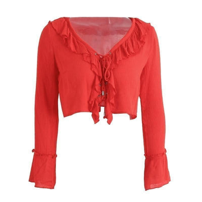 Bohemia Red Crop Top