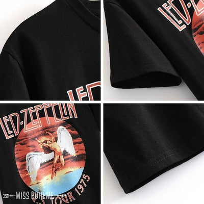 Camiseta de la vendimia de Led Zeppelin