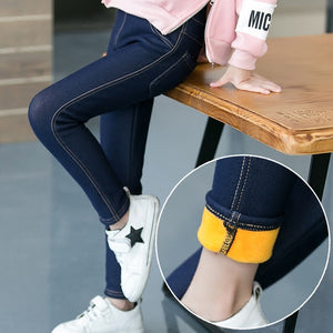 Girl Soft Warm and Stylish Jeans Perfect for Winter