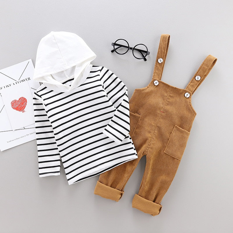 Infant Cotton Striped T-Shirt Pants