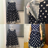 Beautiful and stylish Polka-Dot Dress.