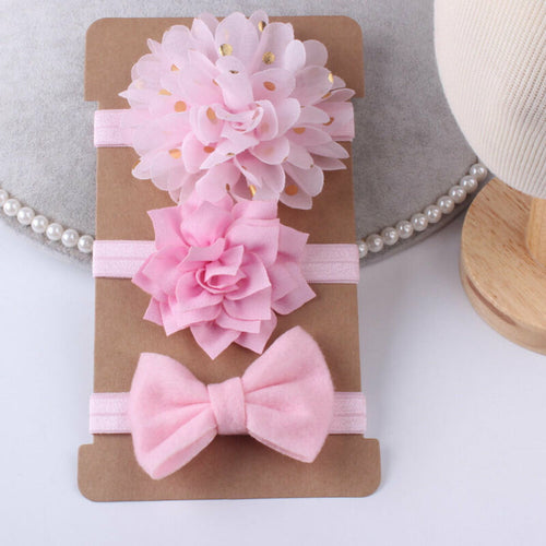Ribbon Elastic Bowknot Hairband Set
