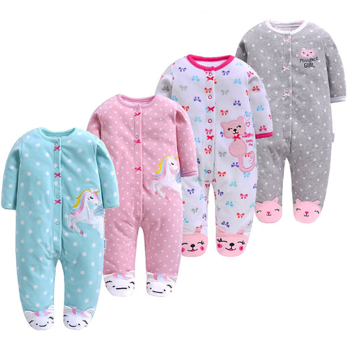 Newborn Autumn/ Winter fleece romper baby boy/girl jumpsuit