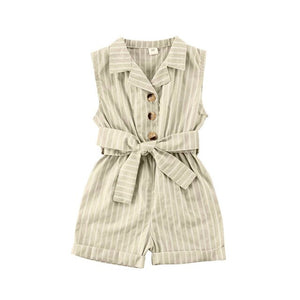 Turn-down Collar Romper