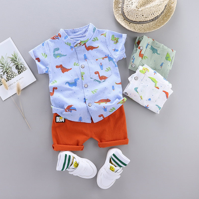 Cute Toddler Dinosaur Print Short