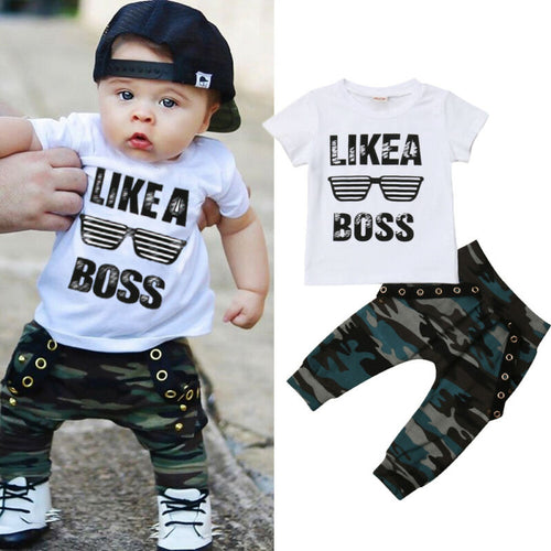 Toddler Kids Baby Boys Summer Clothes