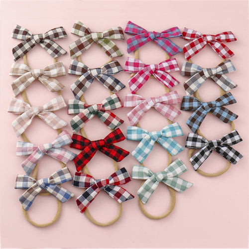 Plaid Baby Stretchy Cotton Hairbands