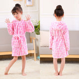 Colourful Children's Hooded Bathrobes