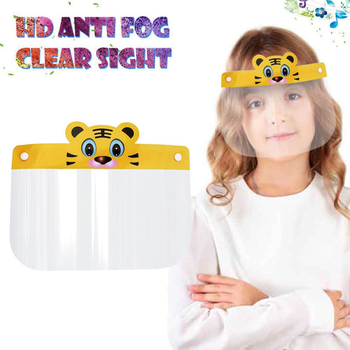 Pack of 5 or 10 PCs of Tiger Cartoon Designed Kids Face Shield