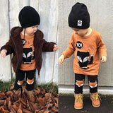 Owl Printed Toddler Outfit