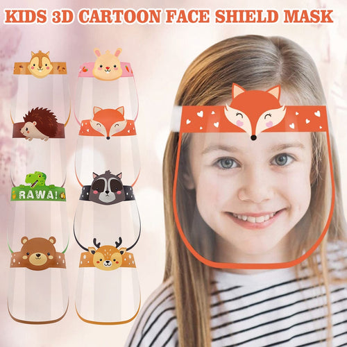 Cartoon Animal Designed Transparent Kids Face Shield