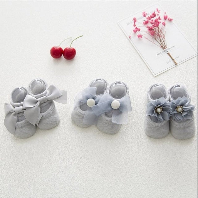 Lace Flower Anti-Slip Socks