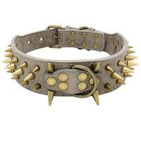 Dog Collar for Large Dogs Cool Spikes Studded Dogs Collar Leather Pet Collar for PitBulls German Shepherd  Mastiff Rottweiler Bulldogs