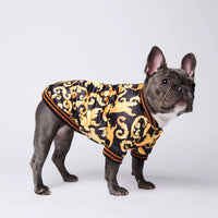 Luxurious Warm Sport Retro Dog Hoodies Pet Clothes Puppy Dog Pugs Puppy