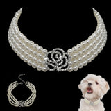 Pearl Luxury Pet Dog Accessories Necklaces For small Dogs
