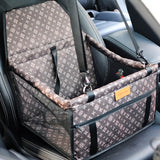 Designer Double Thick Travel Mesh Hanging Pet Carrier Bag Waterproof Dog Mat Blanket Safety Pet Car Seat Bag