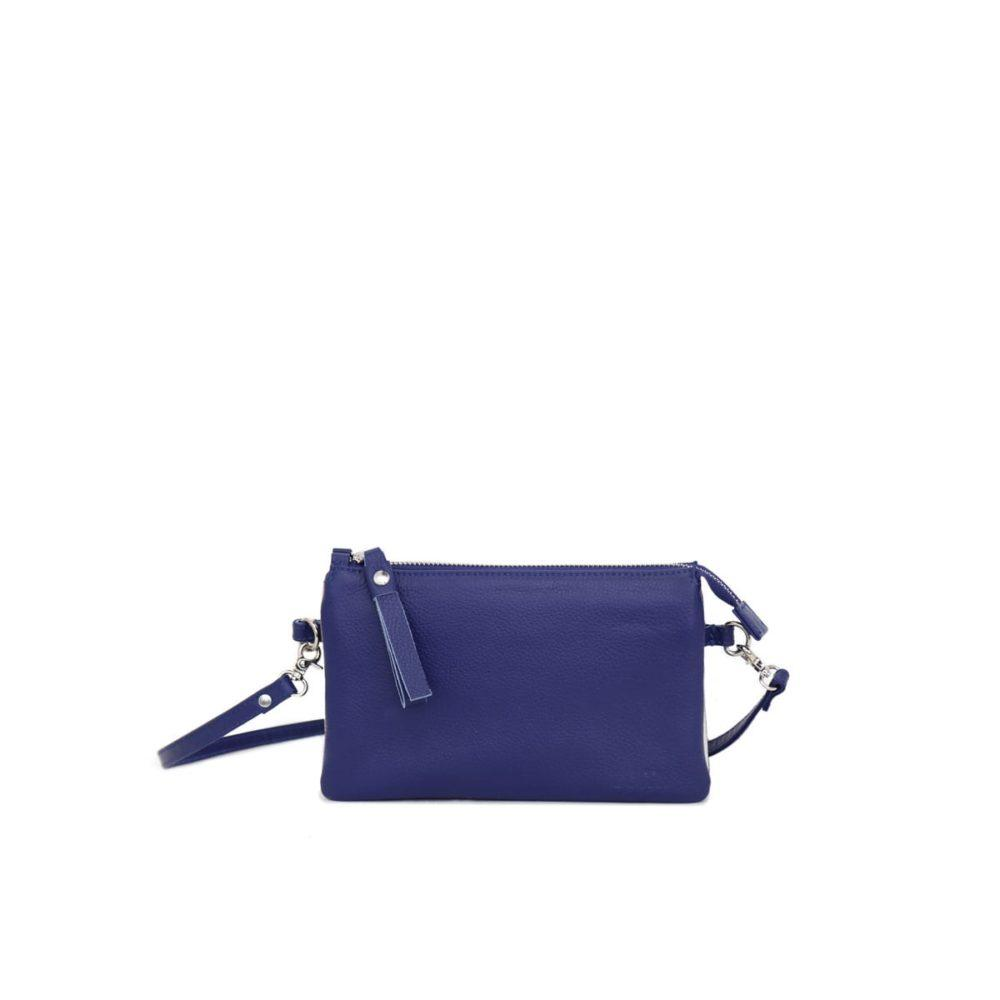 Venla Three Compartment Pouch in Navy Silver by Lumi