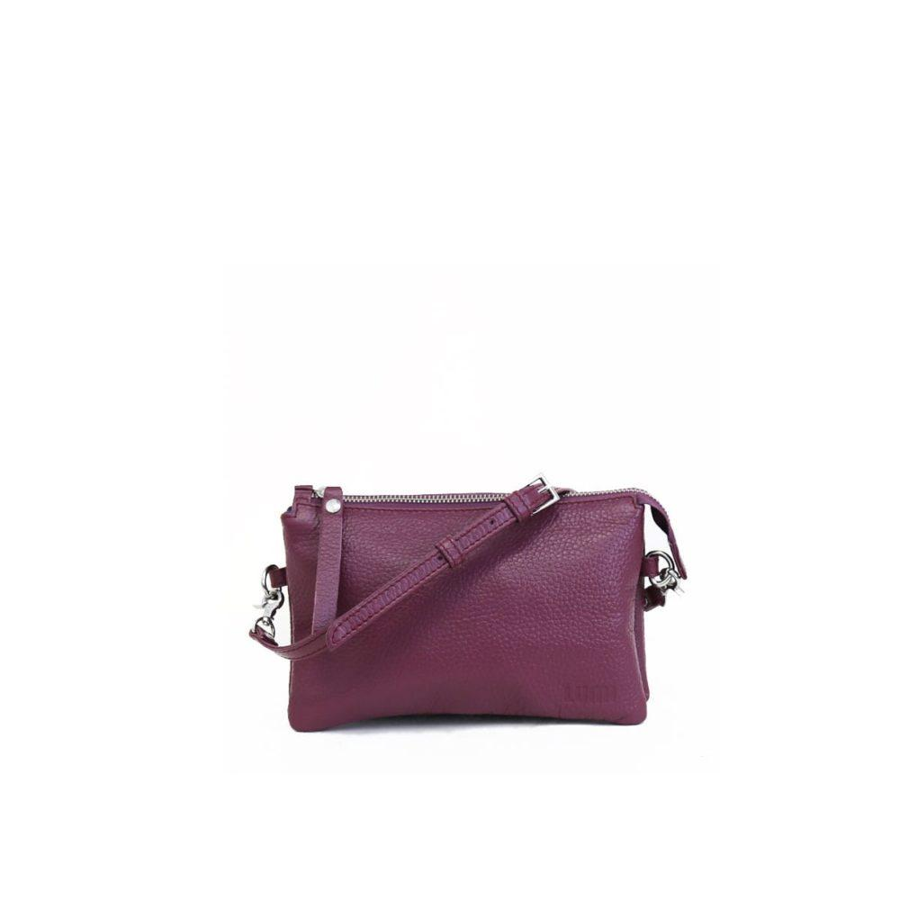 Venla Three Compartment Pouch in Violet by Lumi