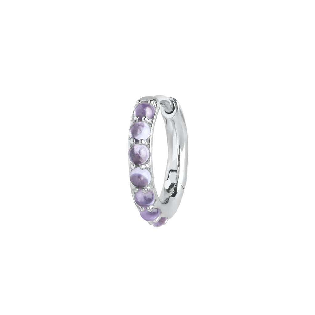 Globo Violet Huggie in Silver by Maria Black