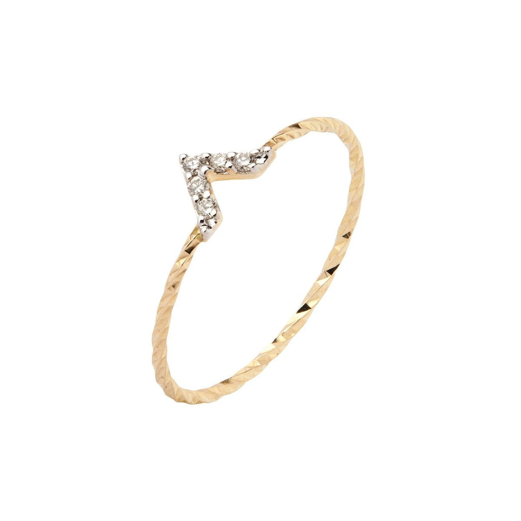 Viva Diamond Ring in Yellow Gold by Maria Black