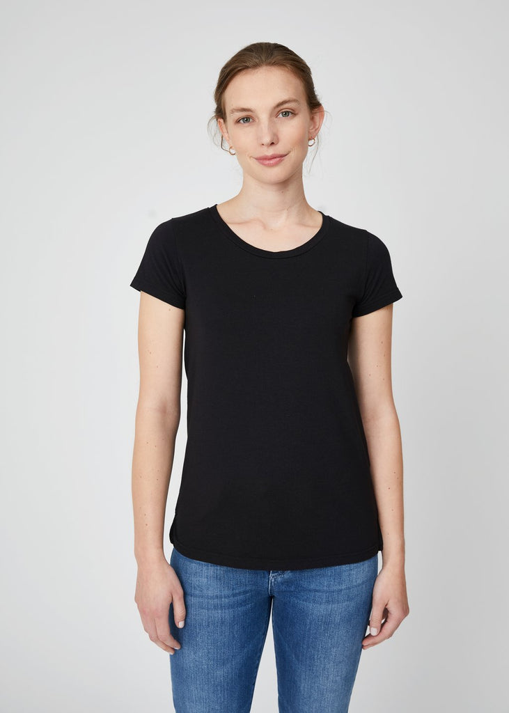 Lillian Crew Neck Tee Black
