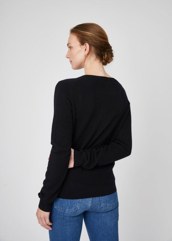 Ella Crew Neck Cashmere Sweater Black