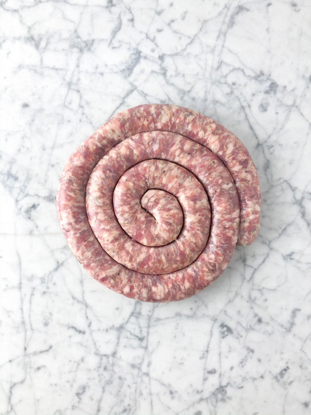 Menapii: Hand-Cut Rustic Sausage with Herbs