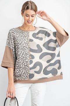 Boxy Leopard Top