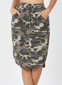 Weekender Dusty Green Camo Skirt