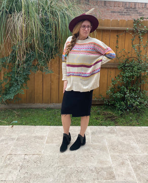 Boho Oversized Knit Sweater
