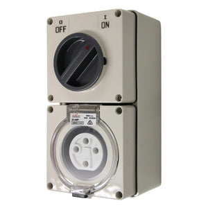 4PIN 20AMP - Combination Switched Socket Outlet